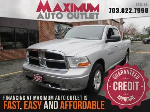 2011 RAM Ram Pickup 1500 for sale at MAXIMUM AUTO OUTLET in Manassas VA