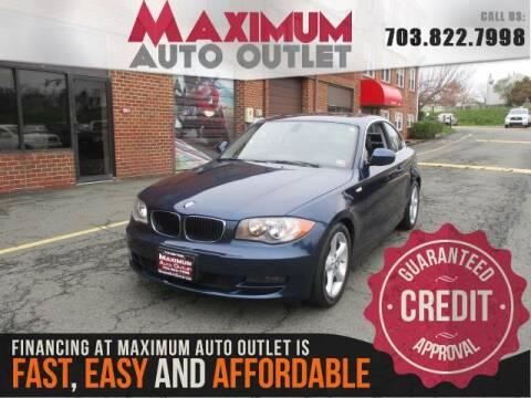 2011 BMW 1 Series 128i for sale at MAXIMUM AUTO OUTLET in Manassas VA