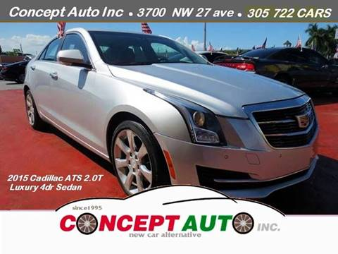 2015 Cadillac ATS for sale at Concept Auto Inc in Miami FL