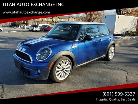 2013 MINI Hardtop Cooper S for sale at UTAH AUTO EXCHANGE INC in Midvale UT