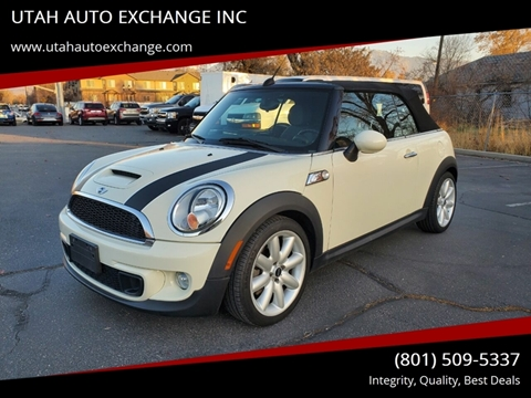 2012 MINI Cooper Convertible S for sale at UTAH AUTO EXCHANGE INC in Midvale UT