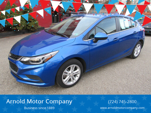2017 Chevrolet Cruze for sale at Arnold Motor Company in Houston PA