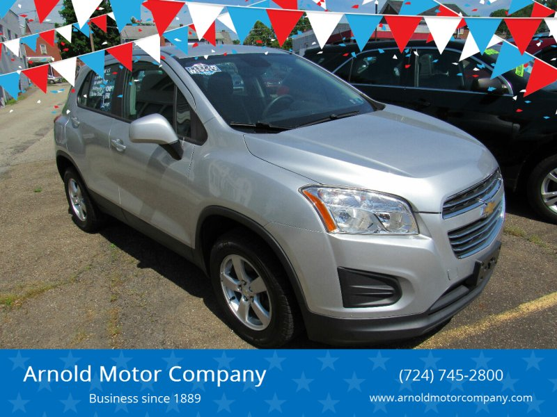 2015 Chevrolet Trax for sale at Arnold Motor Company in Houston PA