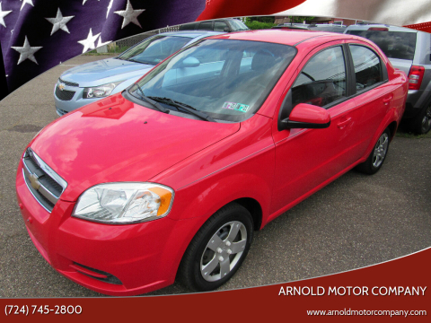 2011 Chevrolet Aveo for sale at Arnold Motor Company in Houston PA