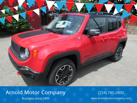 2016 Jeep Renegade for sale at Arnold Motor Company in Houston PA