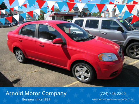 2010 Chevrolet Aveo for sale at Arnold Motor Company in Houston PA