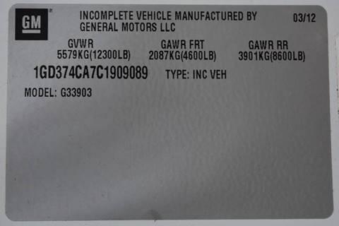 2012 GMC Savana Cutaway