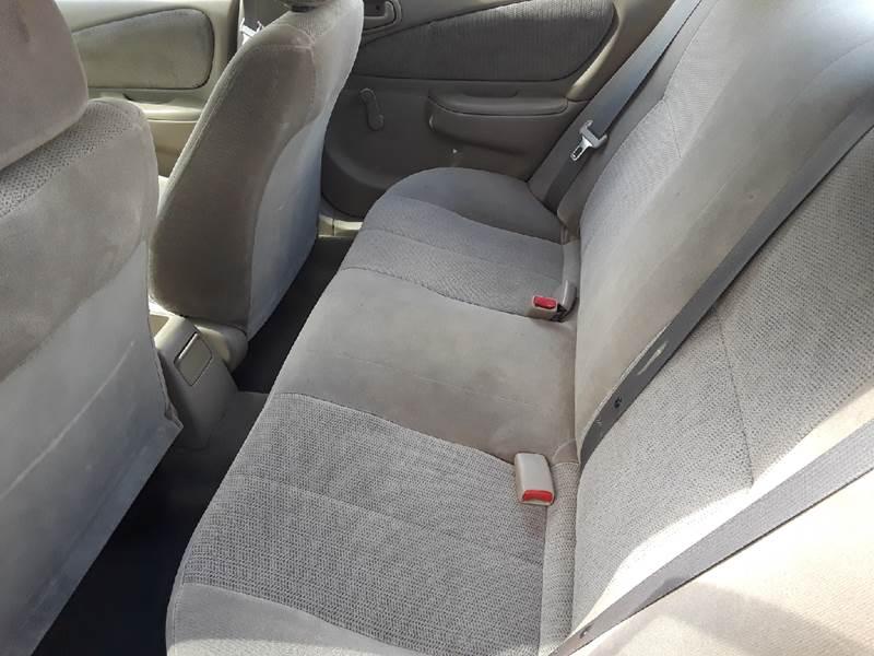 2001 toyota corolla car seat installation