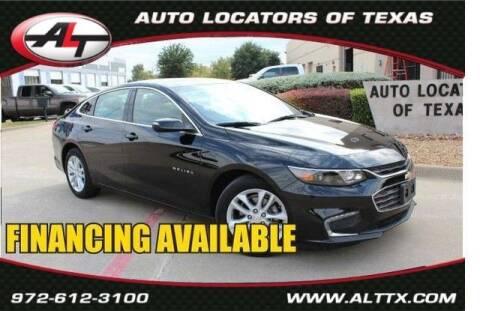 2016 Chevrolet Malibu for sale at AUTO LOCATORS OF TEXAS in Plano TX