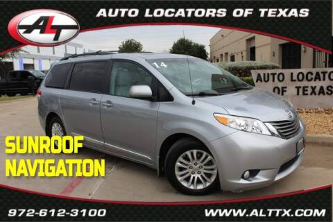 2014 Toyota Sienna for sale at AUTO LOCATORS OF TEXAS in Plano TX