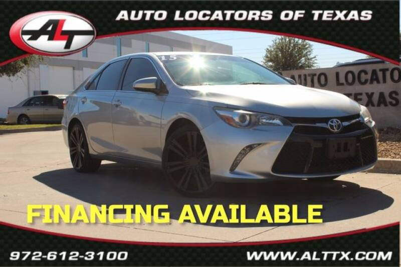 2015 Toyota Camry for sale at AUTO LOCATORS OF TEXAS in Plano TX