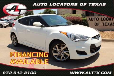 2016 Hyundai Veloster for sale at AUTO LOCATORS OF TEXAS in Plano TX