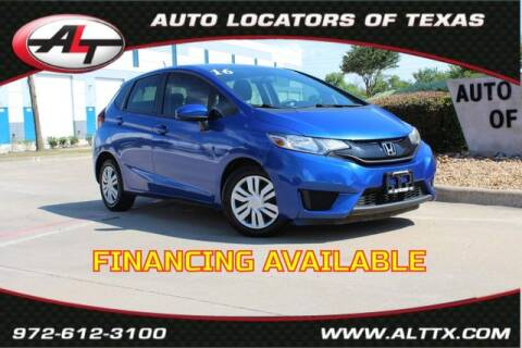 2016 Honda Fit for sale at AUTO LOCATORS OF TEXAS in Plano TX