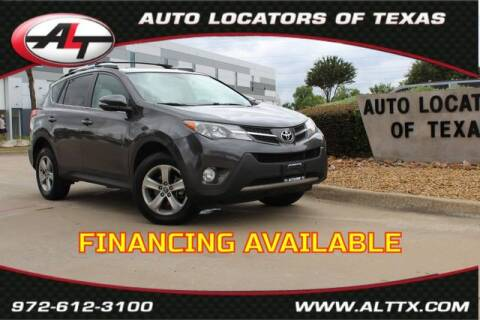 2015 Toyota RAV4 for sale at AUTO LOCATORS OF TEXAS in Plano TX
