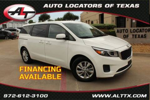 2017 Kia Sedona for sale at AUTO LOCATORS OF TEXAS in Plano TX