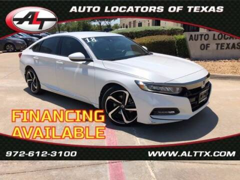 2018 Honda Accord for sale at AUTO LOCATORS OF TEXAS in Plano TX