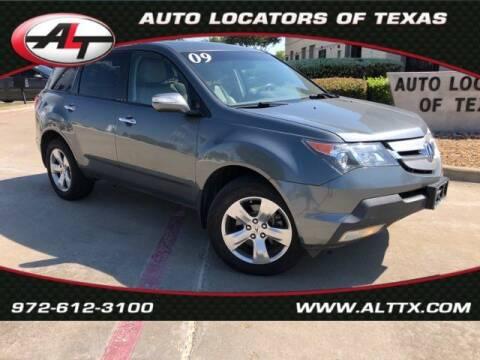 2009 Acura MDX for sale at AUTO LOCATORS OF TEXAS in Plano TX