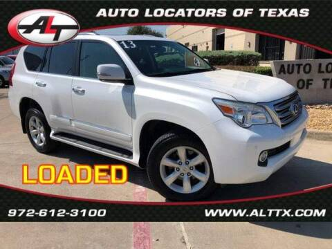 2013 Lexus GX 460 for sale at AUTO LOCATORS OF TEXAS in Plano TX