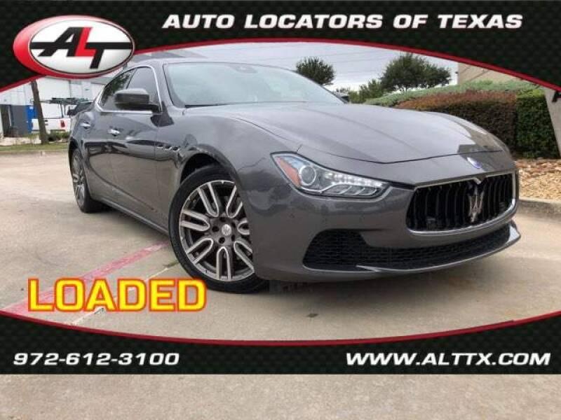 2017 Maserati Ghibli for sale at AUTO LOCATORS OF TEXAS in Plano TX