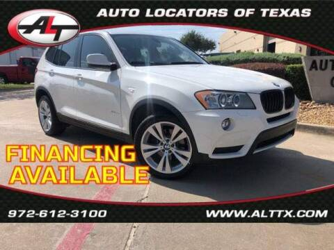 2014 BMW X3 for sale at AUTO LOCATORS OF TEXAS in Plano TX