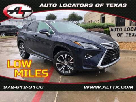 2017 Lexus RX 350 for sale at AUTO LOCATORS OF TEXAS in Plano TX