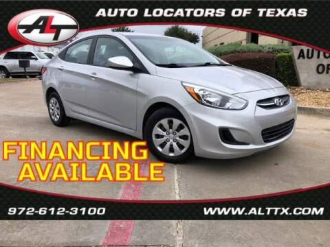 2017 Hyundai Accent for sale at AUTO LOCATORS OF TEXAS in Plano TX