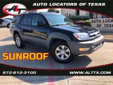 2003 Toyota 4Runner for sale at AUTO LOCATORS OF TEXAS in Plano TX