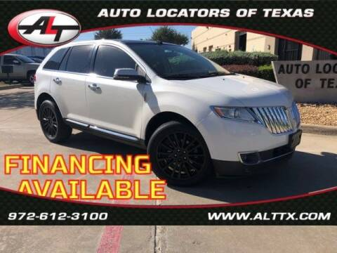 2013 Lincoln MKX for sale at AUTO LOCATORS OF TEXAS in Plano TX