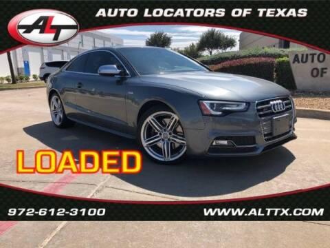 2013 Audi S5 for sale at AUTO LOCATORS OF TEXAS in Plano TX
