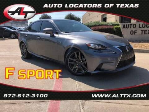 2014 Lexus IS 250 for sale at AUTO LOCATORS OF TEXAS in Plano TX