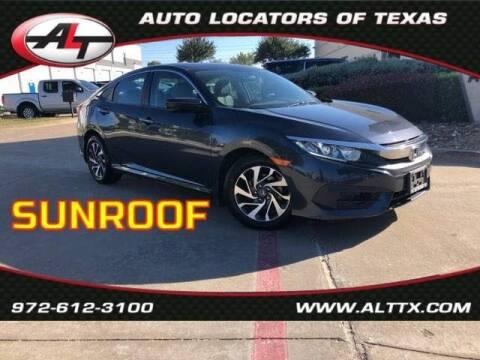 2016 Honda Civic for sale at AUTO LOCATORS OF TEXAS in Plano TX