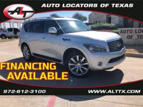 2012 Infiniti QX56 for sale at AUTO LOCATORS OF TEXAS in Plano TX