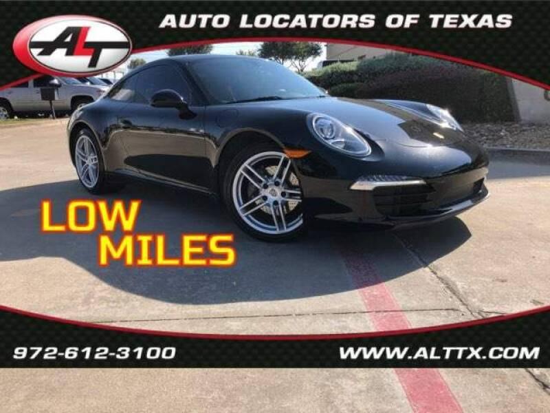 2013 Porsche 911 for sale at AUTO LOCATORS OF TEXAS in Plano TX