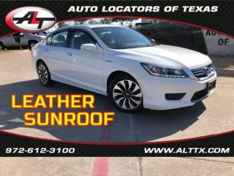 2014 Honda Accord Hybrid for sale at AUTO LOCATORS OF TEXAS in Plano TX
