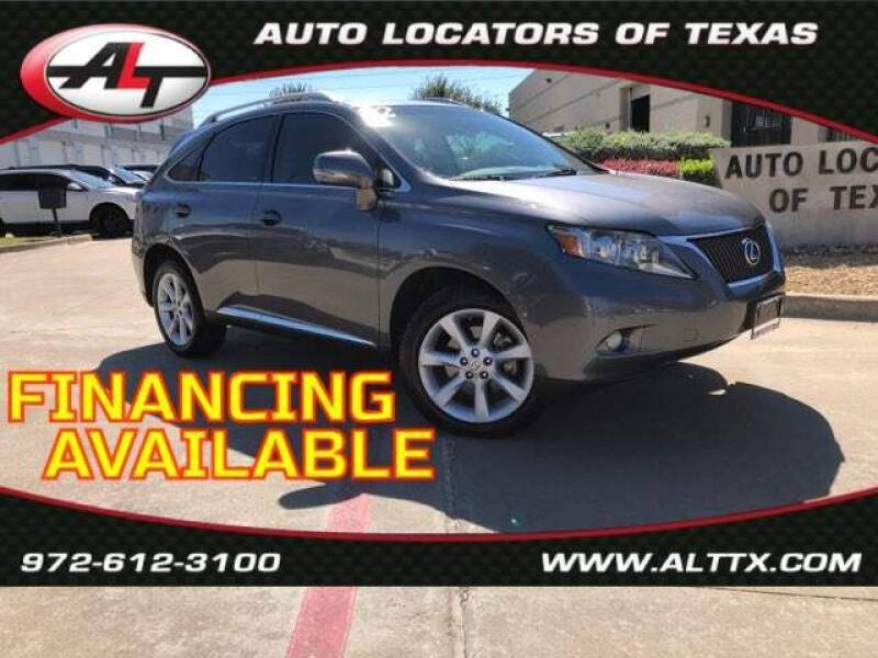 2012 Lexus RX 350 for sale at AUTO LOCATORS OF TEXAS in Plano TX