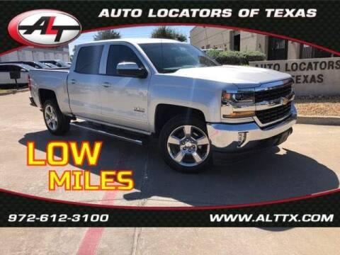2018 Chevrolet Silverado 1500 for sale at AUTO LOCATORS OF TEXAS in Plano TX
