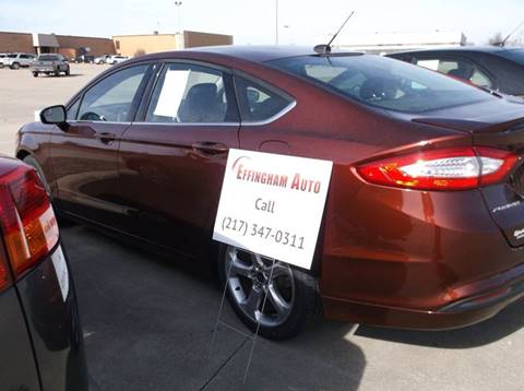 2016 Ford Fusion for sale at EFFINGHAM AUTO in Effingham IL