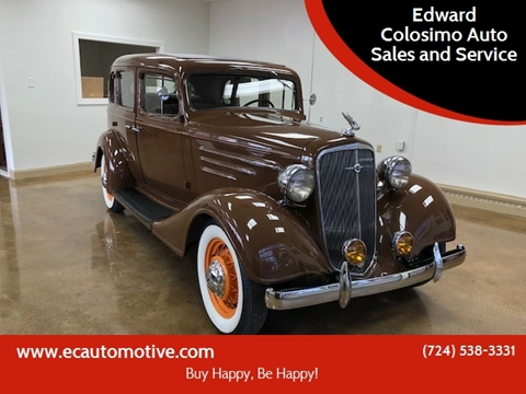 1934 Chevrolet Master Deluxe for sale at Edward Colosimo Auto Sales and Service in Evans City PA