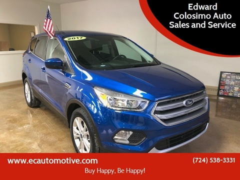 2017 Ford Escape for sale at Edward Colosimo Auto Sales and Service in Evans City PA