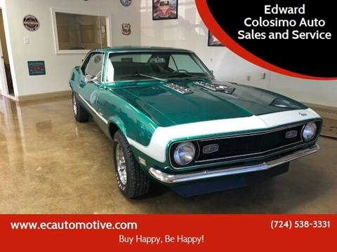 1968 Chevrolet Camaro for sale at Edward Colosimo Auto Sales and Service in Evans City PA