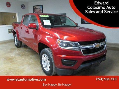 2016 Chevrolet Colorado for sale at Edward Colosimo Auto Sales and Service in Evans City PA