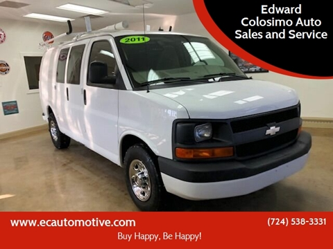 2011 Chevrolet Express Cargo for sale at Edward Colosimo Auto Sales and Service in Evans City PA