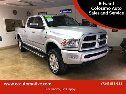 2017 RAM Ram Pickup 2500 for sale at Edward Colosimo Auto Sales and Service in Evans City PA
