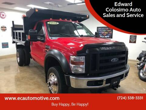 2008 Ford F-550 Super Duty for sale at Edward Colosimo Auto Sales and Service in Evans City PA