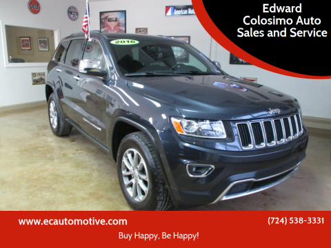 2016 Jeep Grand Cherokee for sale at Edward Colosimo Auto Sales and Service in Evans City PA