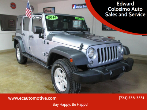 2014 Jeep Wrangler Unlimited for sale at Edward Colosimo Auto Sales and Service in Evans City PA