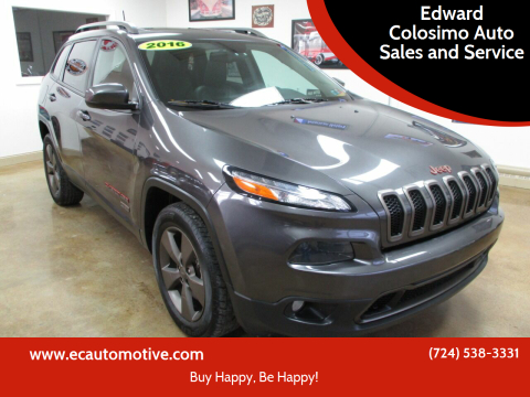 2016 Jeep Cherokee for sale at Edward Colosimo Auto Sales and Service in Evans City PA