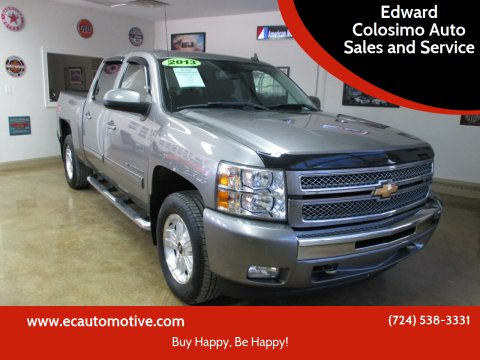 2013 Chevrolet Silverado 1500 for sale at Edward Colosimo Auto Sales and Service in Evans City PA