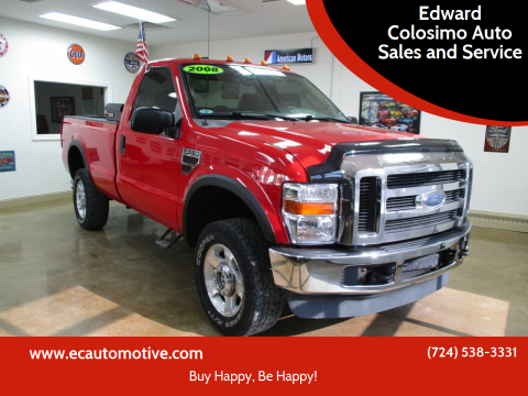2008 Ford F-350 Super Duty for sale at Edward Colosimo Auto Sales and Service in Evans City PA