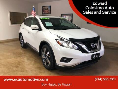 2015 Nissan Murano for sale at Edward Colosimo Auto Sales and Service in Evans City PA